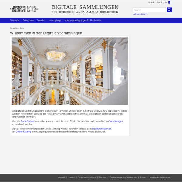 Startseite - Klassik Stiftung Weimar