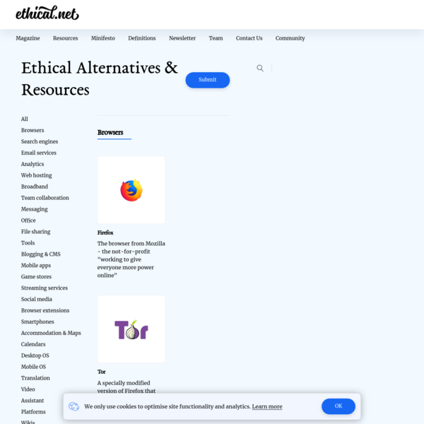 Ethical Alternatives & Resources - ethical.net