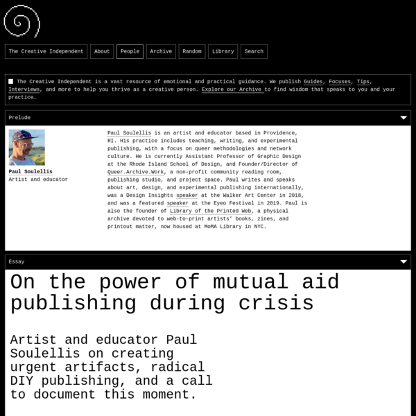 On the power of mutual aid publishing during crisis
