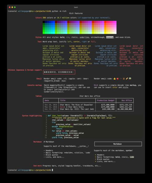 Rich - Python module for CLI