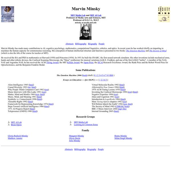 Marvin Minsky's Home Page
