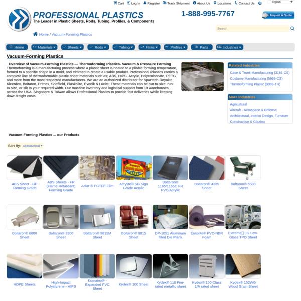 Vacuum-Forming Plastics