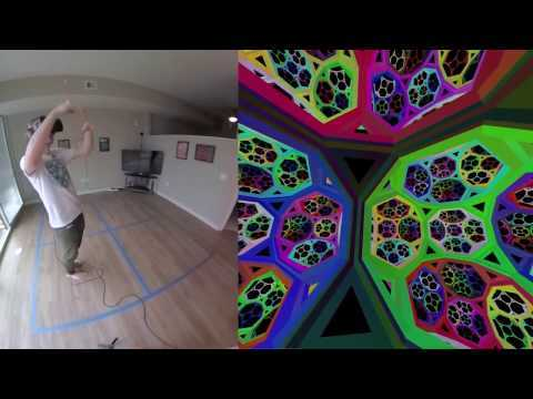 Non-euclidean virtual reality