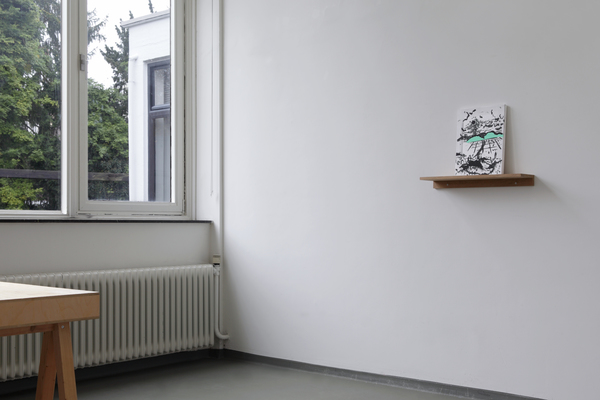Miyeon Lee, The plain of GimJe - Land of my grandmother, painting, 30x40cm, 2016. Installation view. Image by Werner Mantz Lab