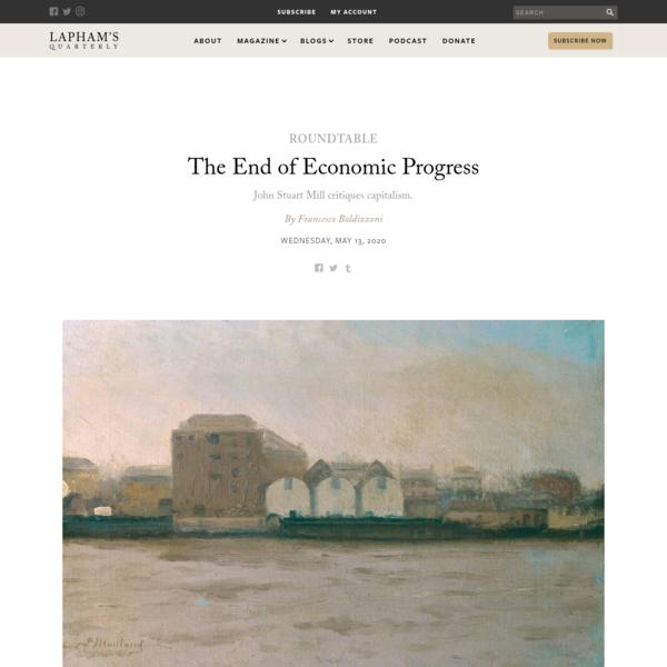 The End of Economic Progress | Francesco Boldizzoni