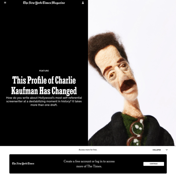 This Profile of Charlie Kaufman Has Changed