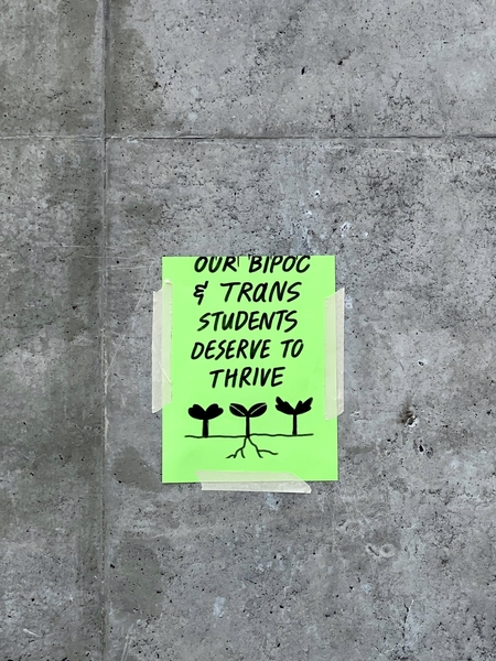 our bipoc & trans students deserve to thrive
