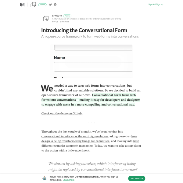 Throughout the last couple of months, we've been looking into conversational interfaces as the next big revolution, asking ourselves how design is being transformed by things we cannot see, and looking into how different countries approach messaging. Today, we want to take a step closer to the action with a little experiment.