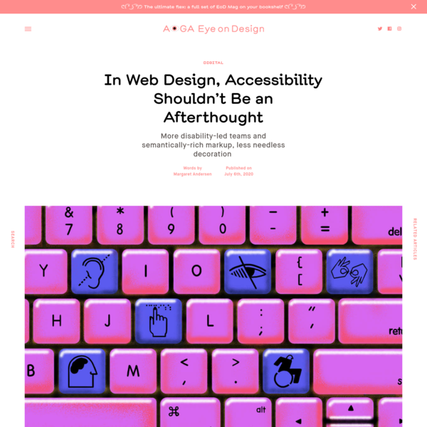 In Web Design, Accessibility Shouldn't Be an Afterthought