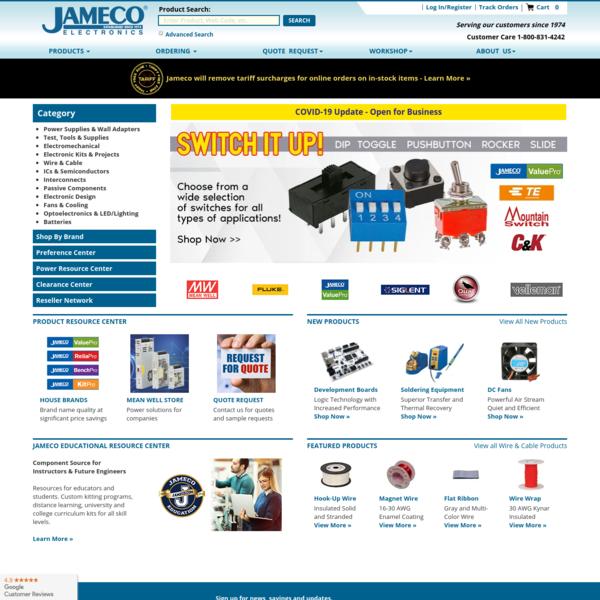 Jameco Electronics - Electronic Components Distributor