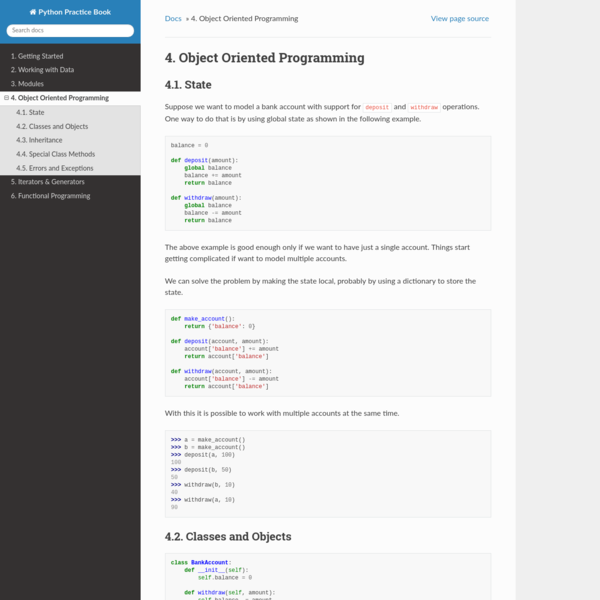 4. Object Oriented Programming — Python Practice Book 0.3 documentation