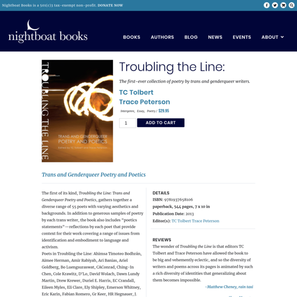 Troubling the Line: - Nightboat Books