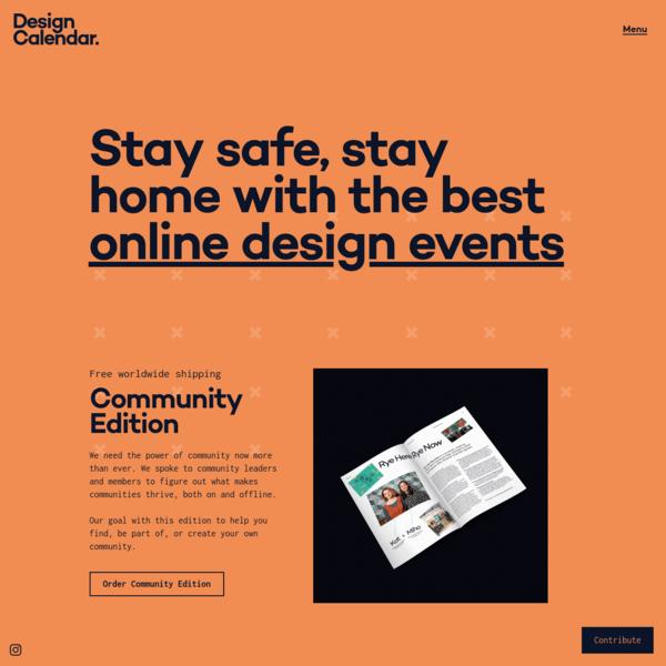 Design Calendar - The best design events in the world