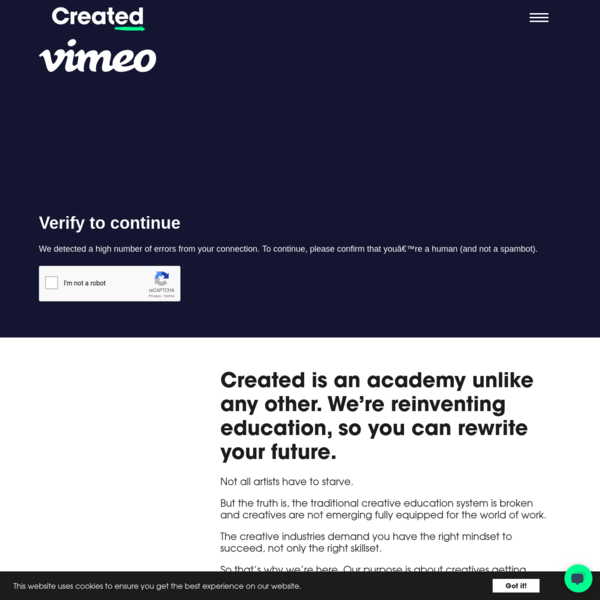 Created Academy   Creative Education For The Real World