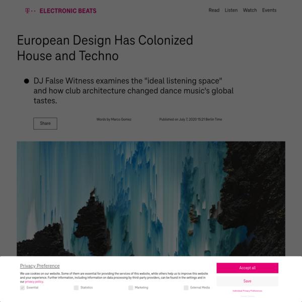 European Design Has Colonized House and Techno
