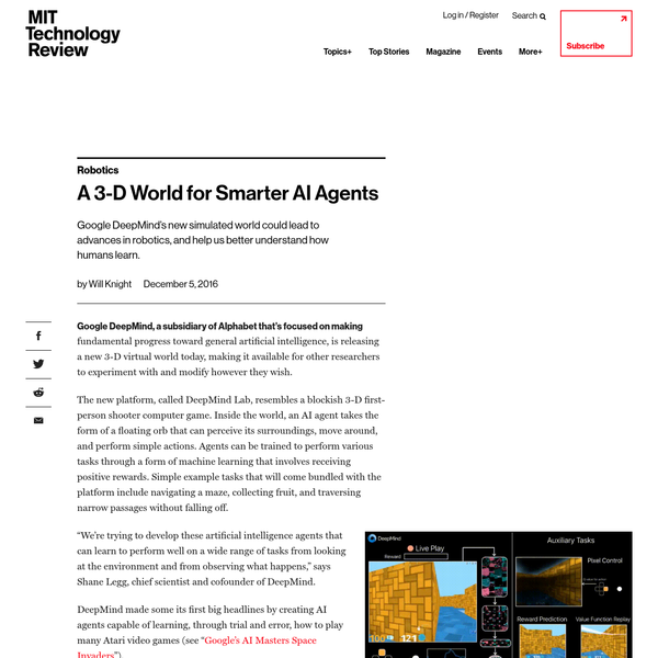 Google DeepMind releases a 3-D world to nurture smarter AI agents