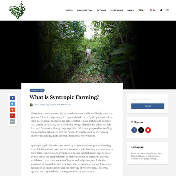 What is Syntropic Farming? | Agenda Gotsch