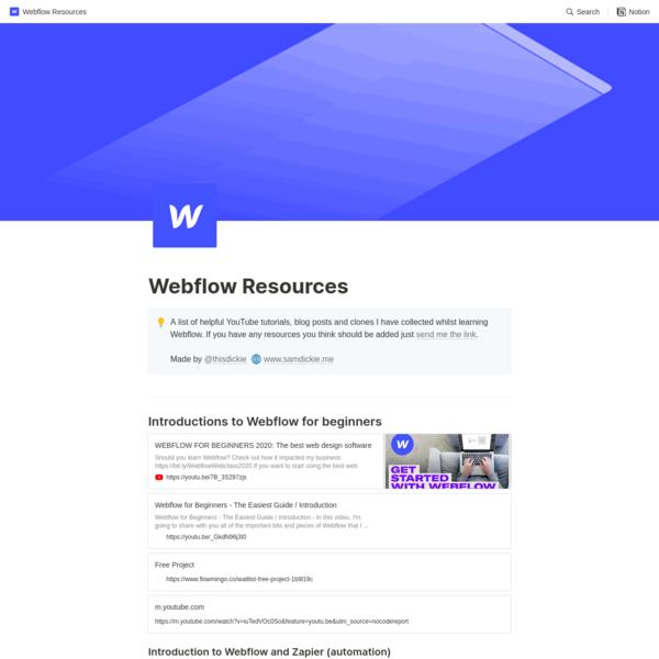 Webflow Resources