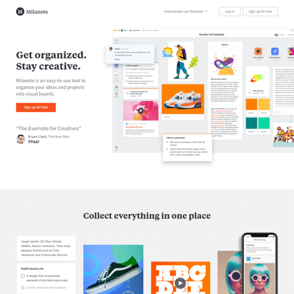 Milanote - the tool for organizing creative projects