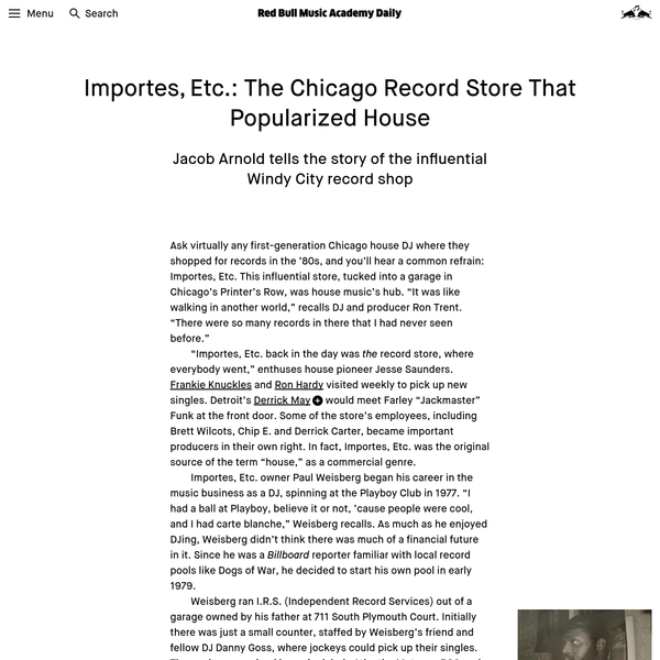 The Chicago Record Store That Helped Birth House | Red Bull Music Academy Daily
