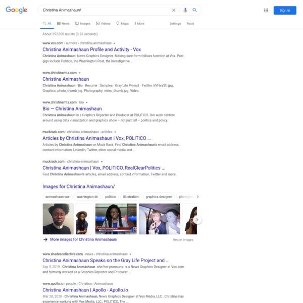 Christina Animashaun/ - Google Search