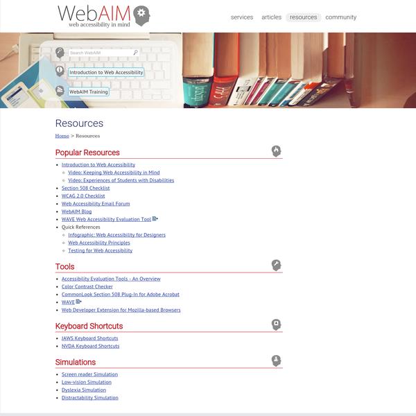 WebAIM: Resources
