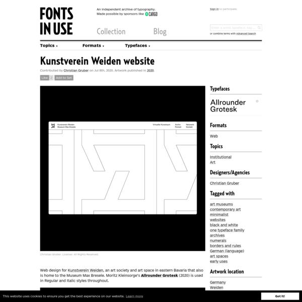Kunstverein Weiden website