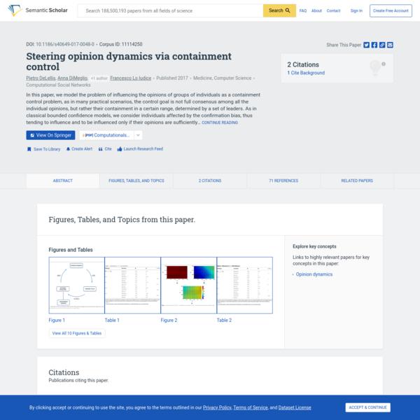 Steering opinion dynamics via containment control | Semantic Scholar