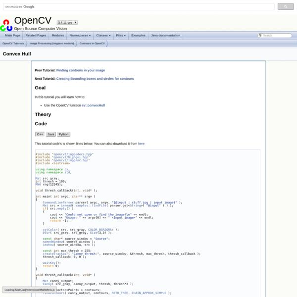 OpenCV: Convex Hull