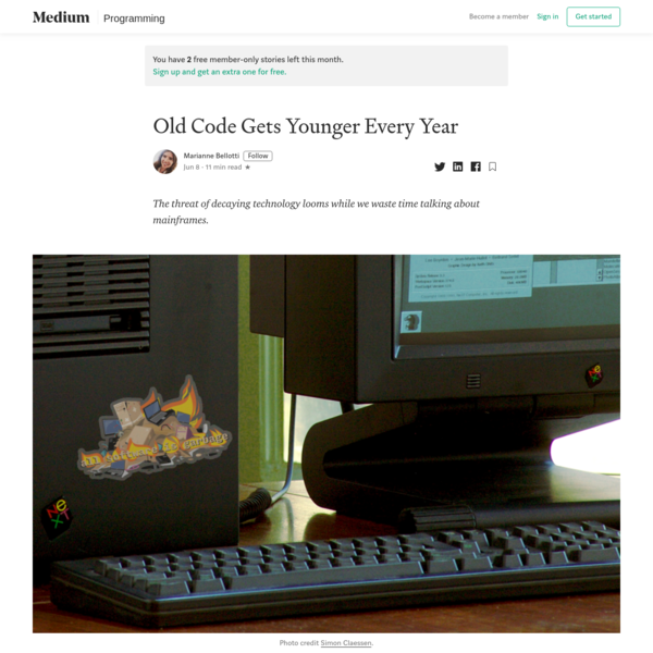 Old Code Gets Younger Every Year