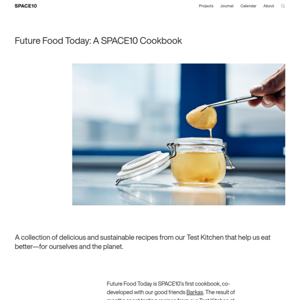 Future Food Today: A SPACE10 Cookbook | SPACE10