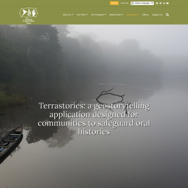 Terrastories Application | Amazon Conservation Team