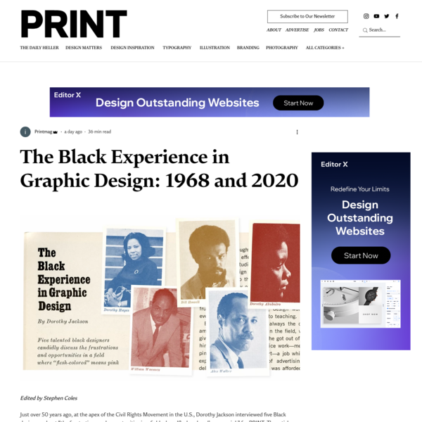 The Black Experience in Graphic Design: 1968 and 2020