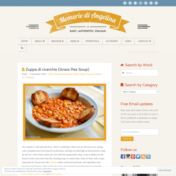 Zuppa di cicerchie (Grass Pea Soup) | Memorie di Angelina
