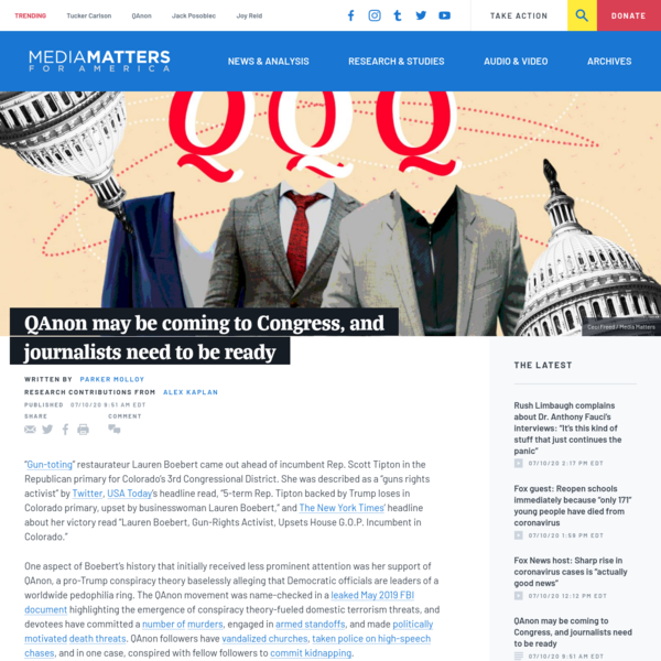 QAnon may be coming to Congress, and journalists need to be ready