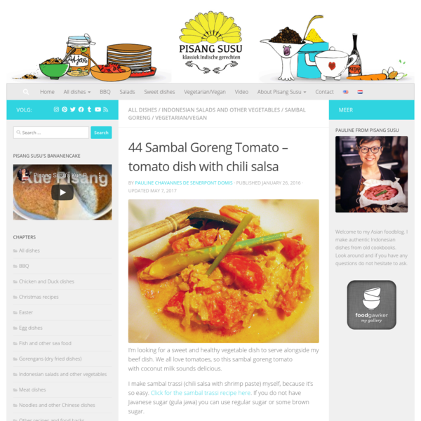 Sambal Goreng Tomato - classic Indonesian recipe