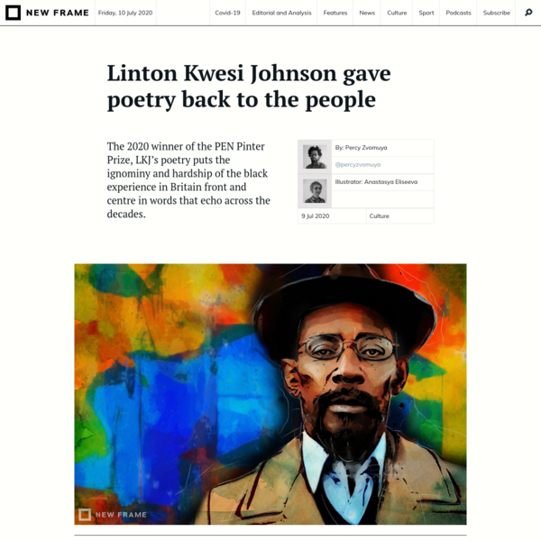 Linton Kwesi Johnson gave poetry back to the people