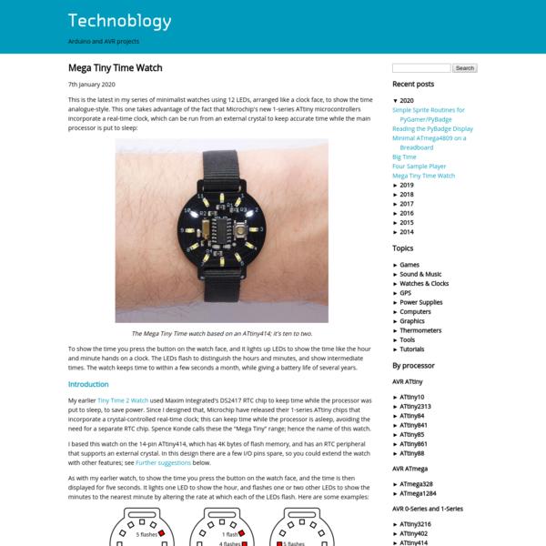 Technoblogy - Mega Tiny Time Watch