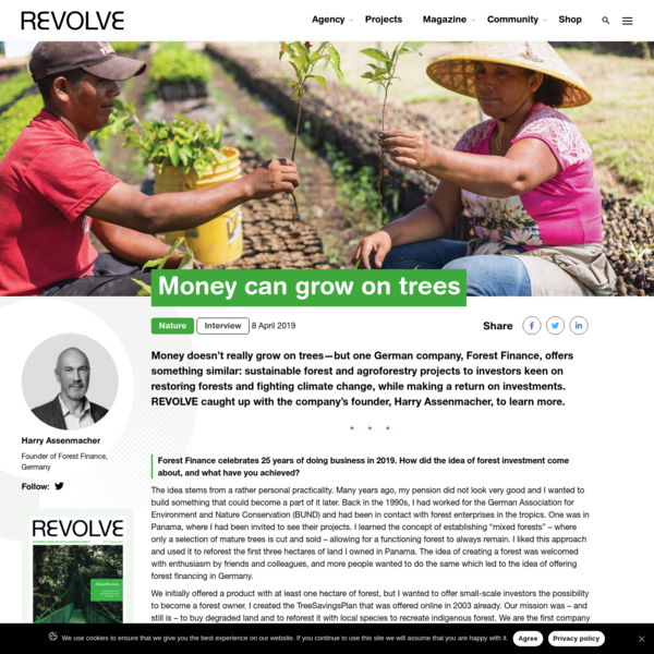 Interview | Money can grow on trees