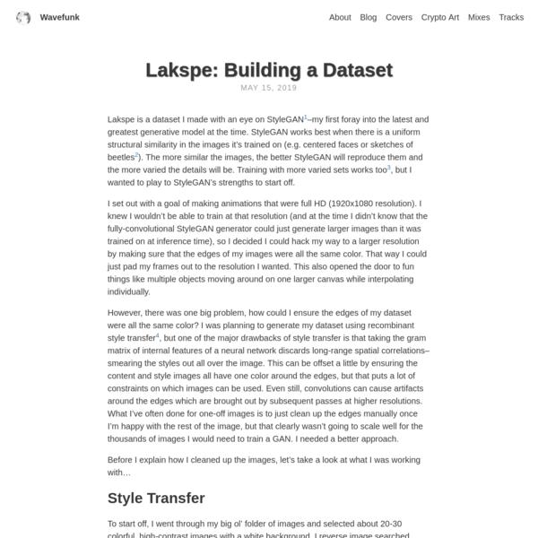 Lakspe: Building a Dataset