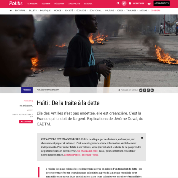 Haïti : De la traite à la dette
