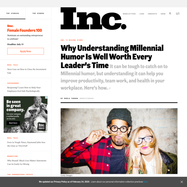 Why Understanding Millennial Humor Is Well Worth Every Leader's Time