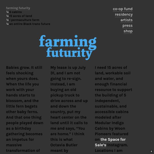 farming futurity - Activation Residency