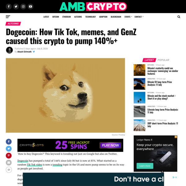 Dogecoin: How Tik Tok, memes, and GenZ caused this crypto to pump 140%+ - AMBCrypto