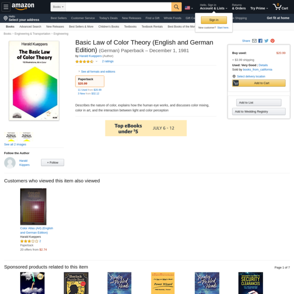 Basic Law of Color Theory (English and German Edition): Kueppers, Harald: 9780812021738: Amazon.com: Books