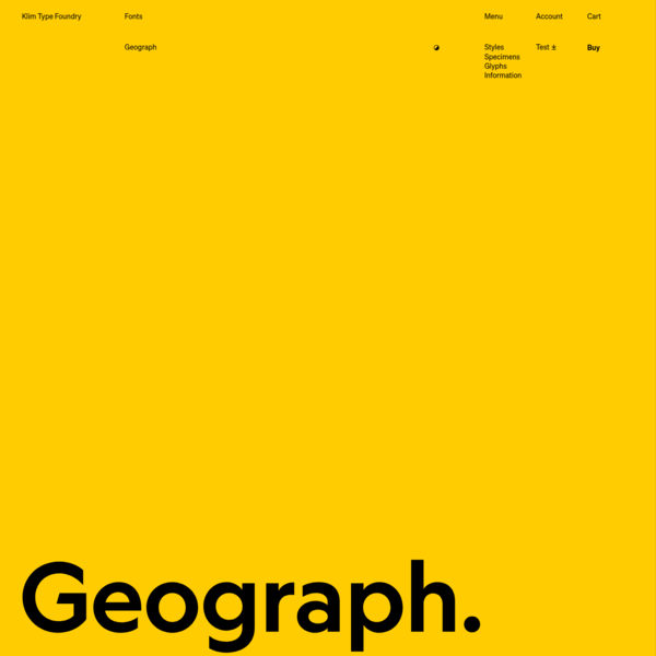 Klim Type Foundry · Geograph fonts