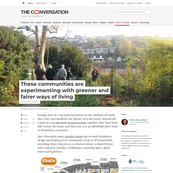 These communities are experimenting with greener and fairer ways of living