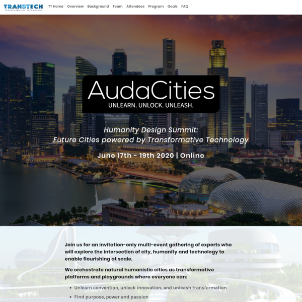 Audacities: Future Cities Powered by Transformative Tech