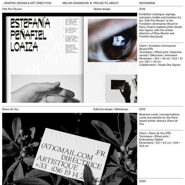 Melvin Ghandour - Graphic Design & Art Direction