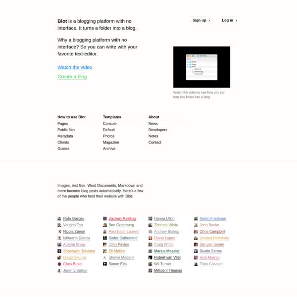 Blot - a blogging platform with no interface